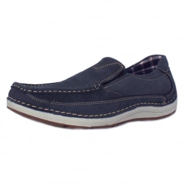 Marshall Men's Slip-On Boat Shoes in Navy