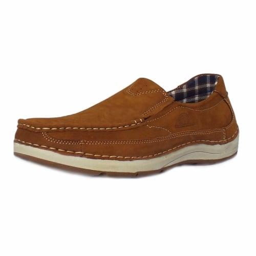 b4186362dfe Marshall Men  039 s Slip-On Boat Shoes in Tan