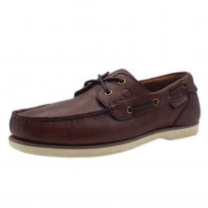 62e829065f0 Newton Made in Britain Men s Leather Deck Shoes in Coffee