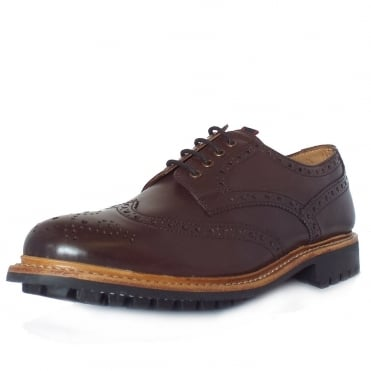 Nottingham Men's Hand-Crafted Goodyear Welted Brogues in Brown