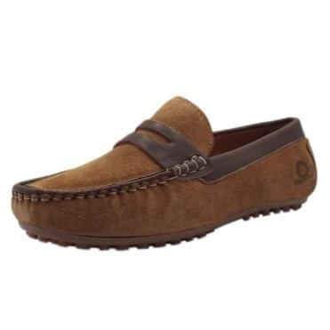 Olana Driving Moccasins in Tan Suede