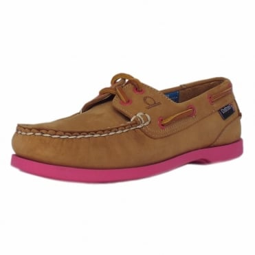 Pippa II G2 Women's lace up Boat Shoes in Tan leather