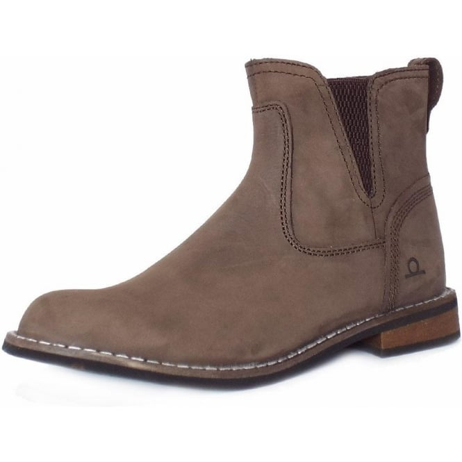 Chatham Marine Quinn Women's Casual Pull On Short Boots in Brown