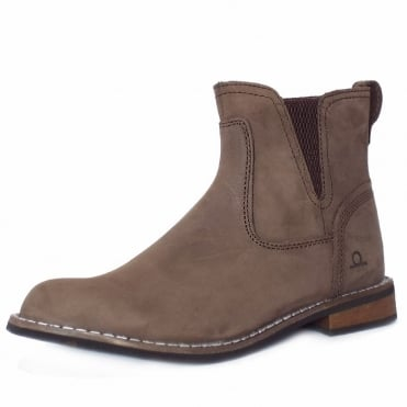 Quinn Women's Casual Pull On Short Boots in Brown