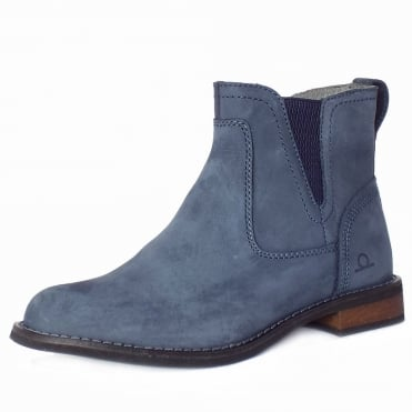 Quinn Women's Casual Pull On Short Boots in Navy