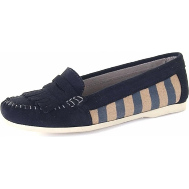 Chatham Marine Sandy Women's Canvas Penny Loafer in Navy