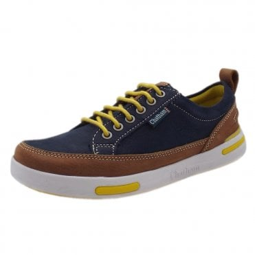 Step Sole Spring lace up Sneakers in Navy