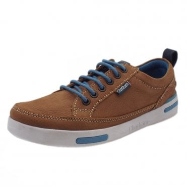 Step Sole Spring lace up Sneakers in Tan