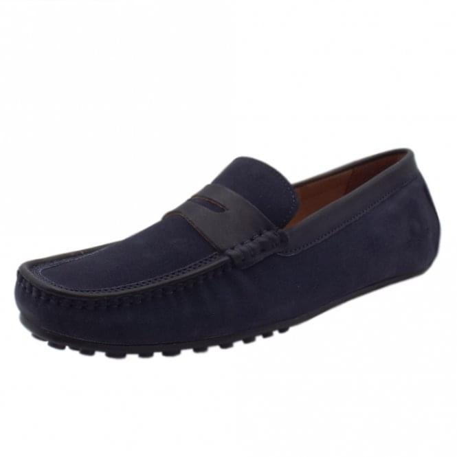 Chatham Marine Toga Driving Moccasins in Navy Suede