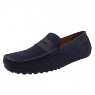 Toga Driving Moccasins in Navy Suede