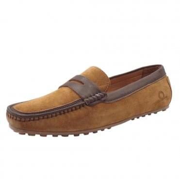 Toga Driving Moccasins in Tan Suede