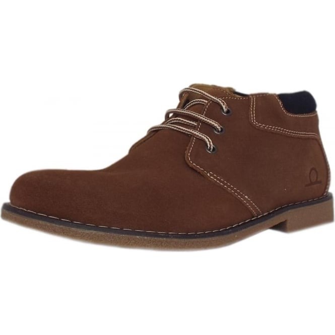 Chatham Marine Tor Men's Desert Boots in Tan Brown Suede