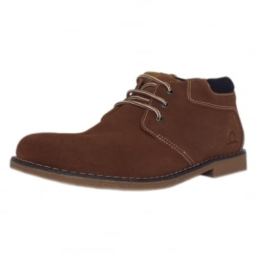Tor Men's Desert Boots in Tan Brown Suede