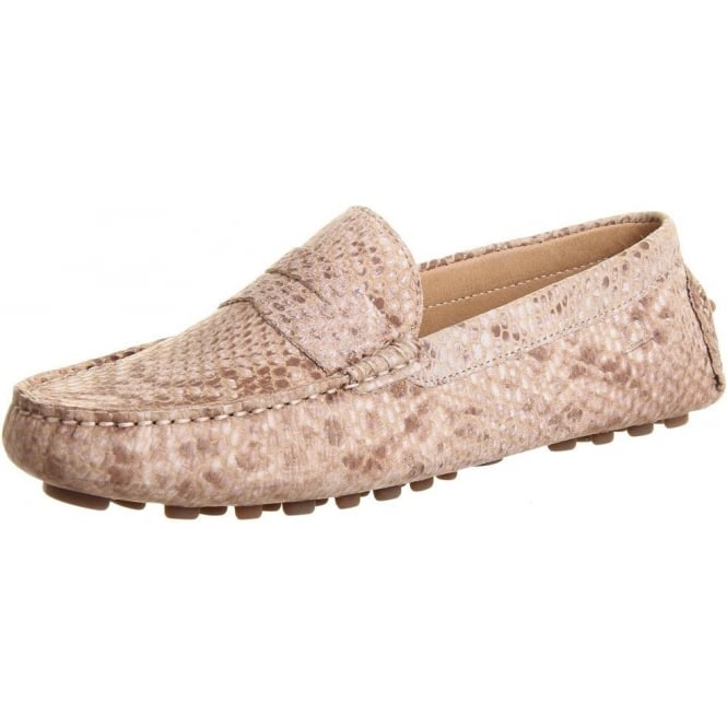 Chatham Marine Tropez Women's Driving Loafers in Snake Taupe