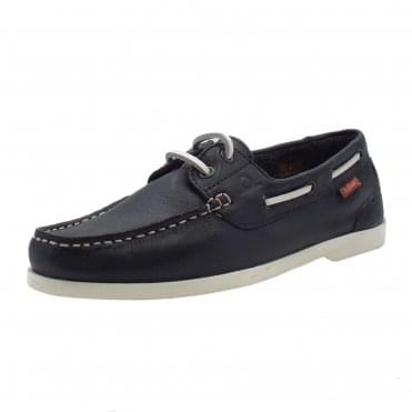 Willow Boat Shoe in Navy