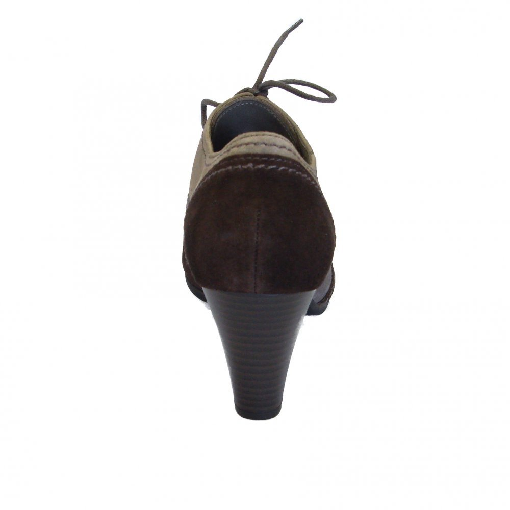 Womens : Womens Shoes : Cher Ladies Lace Up Trouser Shoe In Brown