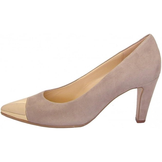Gabor Cherish Womens Court Shoe In Light Taupe Suede