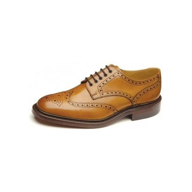 Loake Chester Derby Brown Leather Brogue Shoes