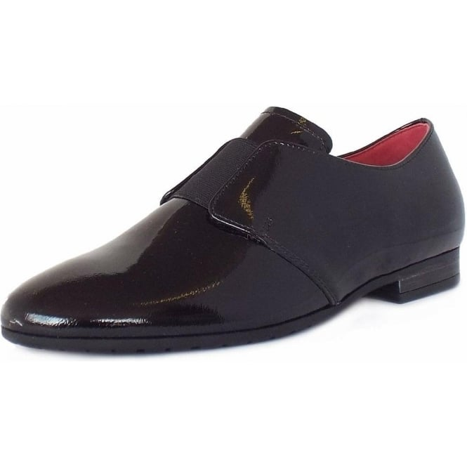 huge sale reputable site official images Gabor Citizen Women's Smart Casual Wide Fit Loafers in Black Patent