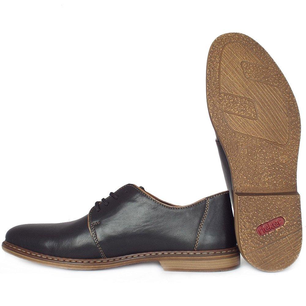 Rieker Leather Lace Up Smart Shoes Black