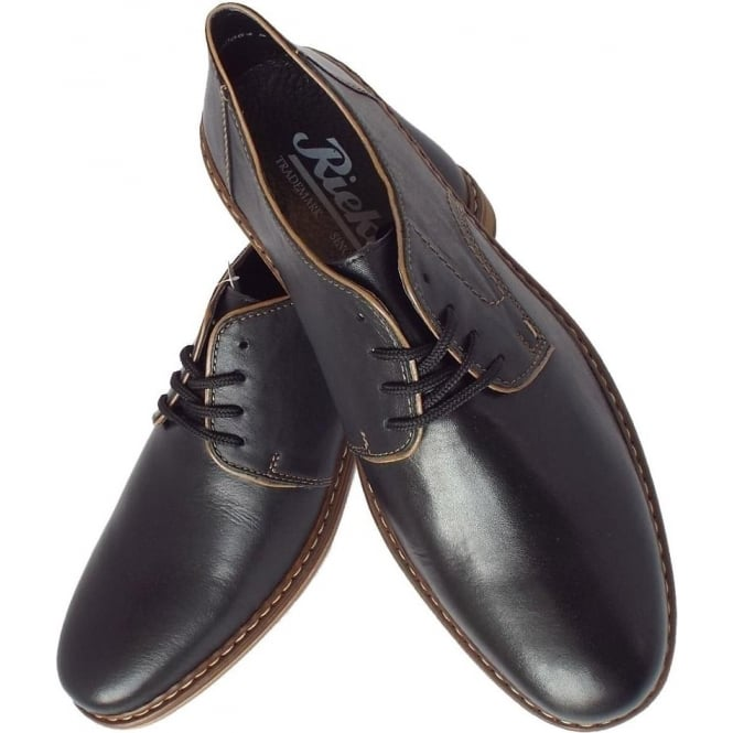 8c647e5aafaf Clarence Mens Smart-Casual Shoe in Black Leather