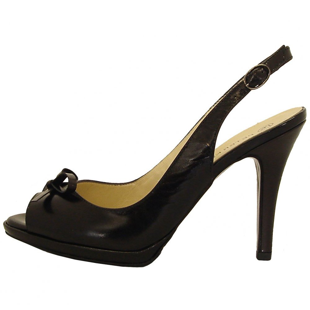 Black High Heel Peep Toe Shoes