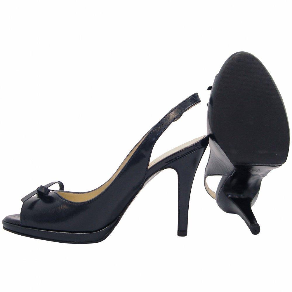 kaiser claris high heel peep toe sling backs in