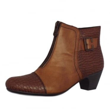 Rieker Cleveland Fashion Ankle Boots in Brown