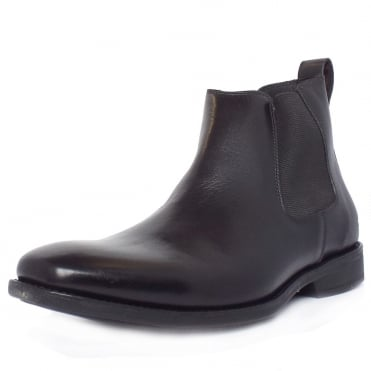Colombo Men's Chelsea Style Pull On Boots in Black