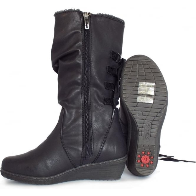5d31ca04a908 Colorado River Relife Women  039 s Comfortable Casual Long Boots in Black