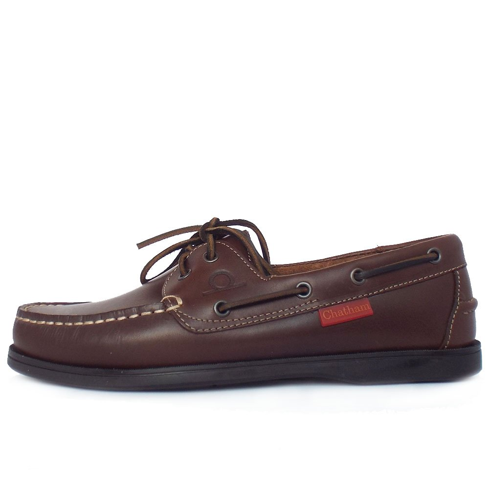 Brown Leather Mens Boat Shoes