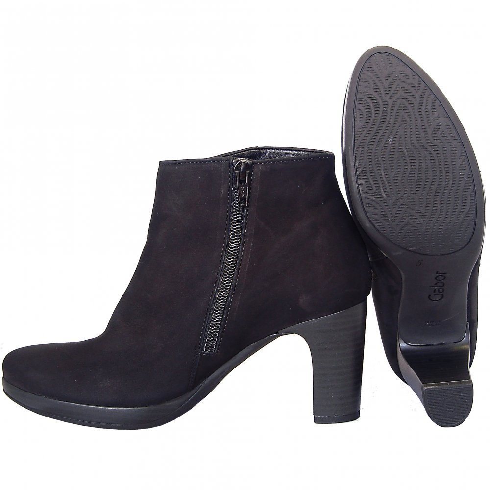 gabor boots connecticut mid heel ankle boot in black