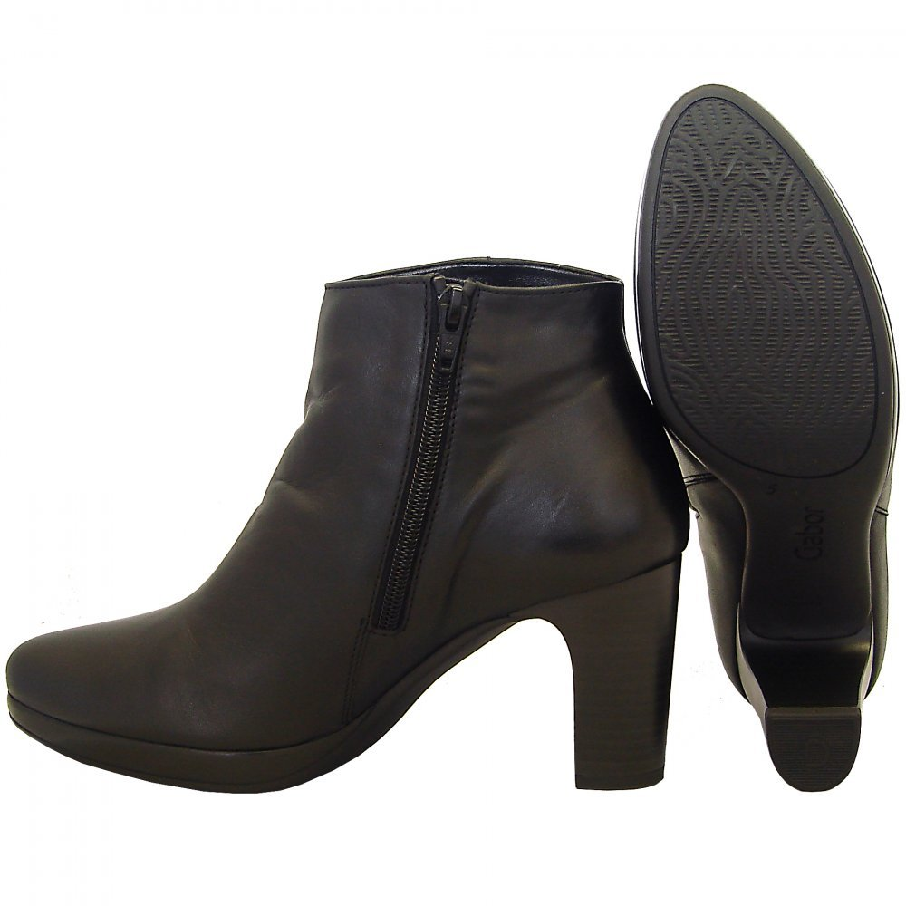 gabor boots connecticut mid heel boot in black mozimo