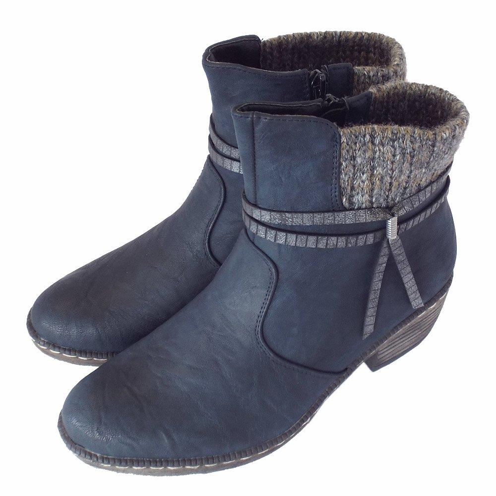 New Amiana Amiana 12-102003 Womens Hair Fur Black Fashion Ankle Boots Boots