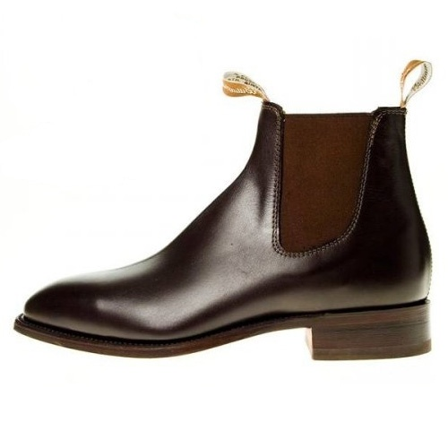 rm williams craftsman mens pull on brown leather ankle