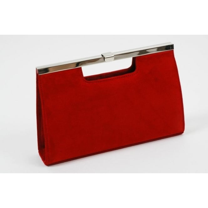 1dca4a1ce4 Peter Kaiser Red clutch bag | suede or leather upper