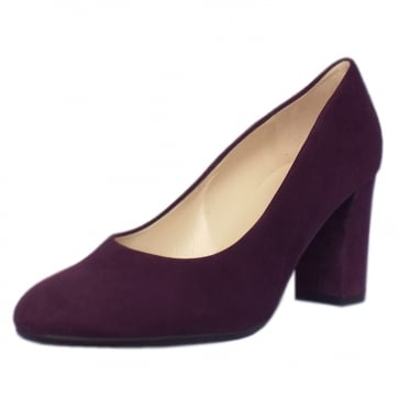Peter Kaiser Dalmara Classic Court Shoes in Plum Suede