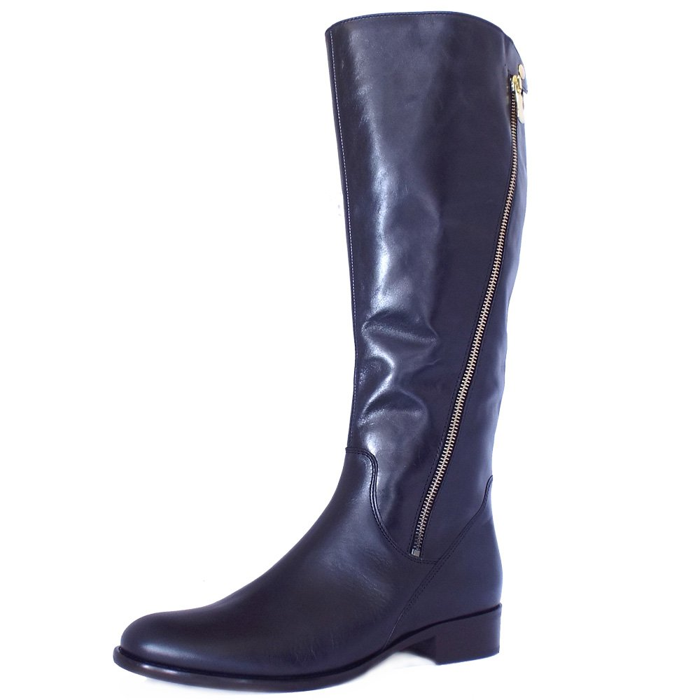 gabor dawson navy leather knee high boots mozimo