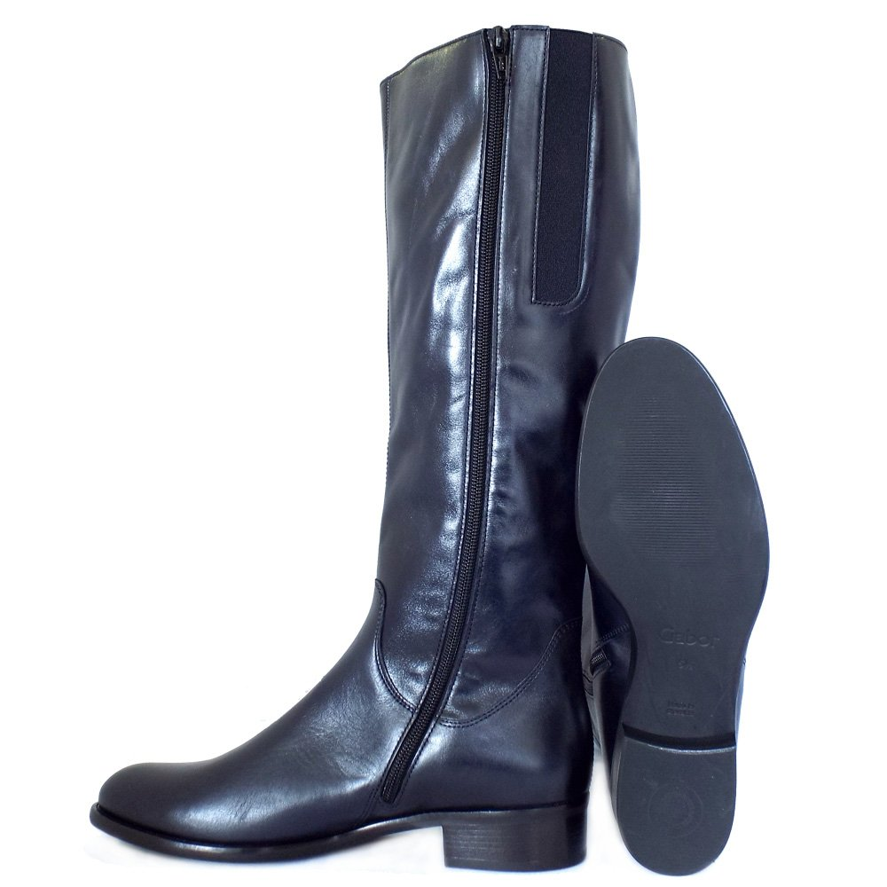 Awesome Buy Kielz CalfLength Navy Blue Boots For Women Online