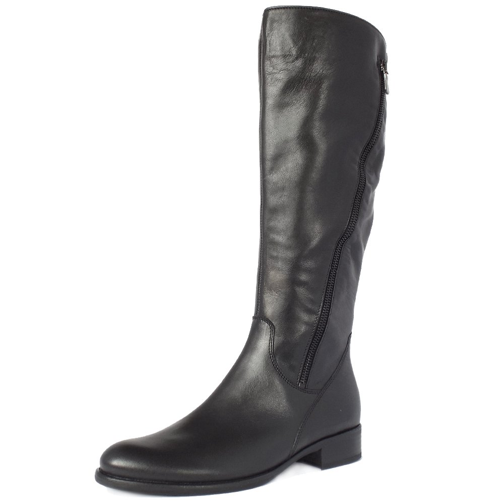 gabor dawson s modern knee high black leather