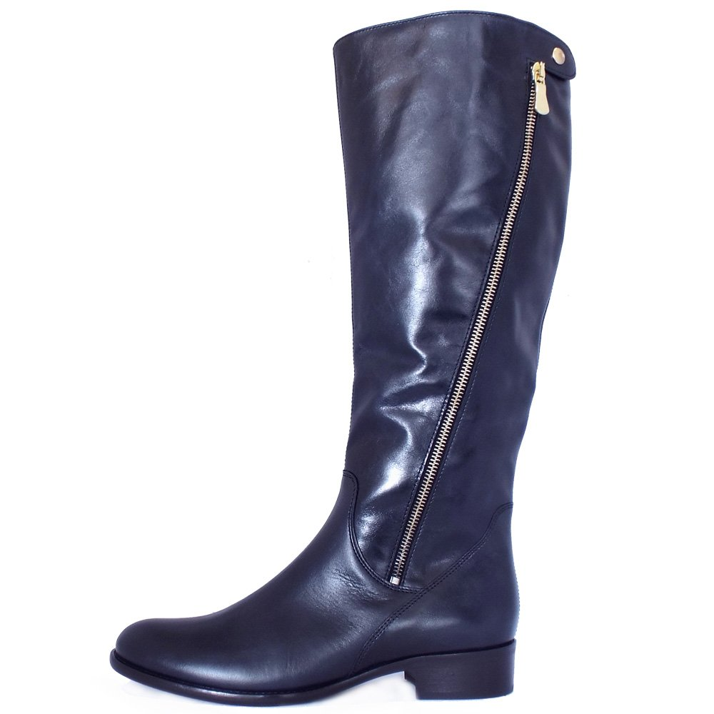 gabor dawson s modern knee high navy leather boots