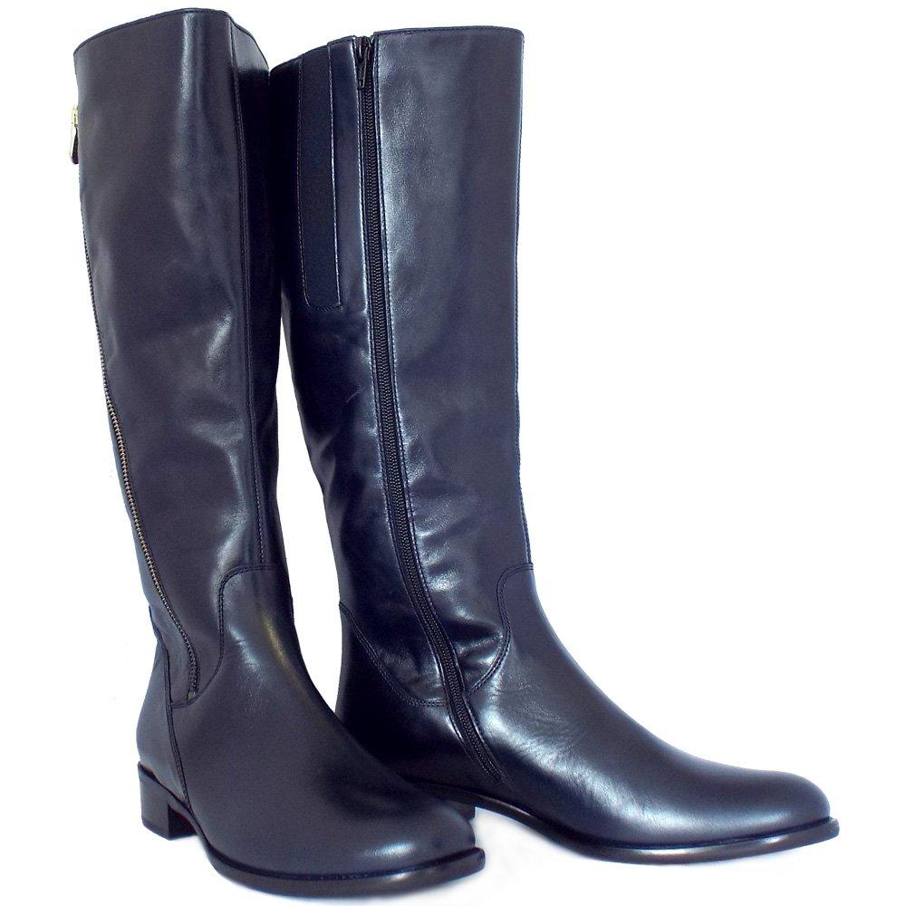gabor dawson s modern knee high navy leather boots