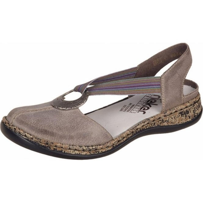 size 40 51aee 87a7a Rieker Delight Women's Closed Toe Sandals in Beige Stone Leather