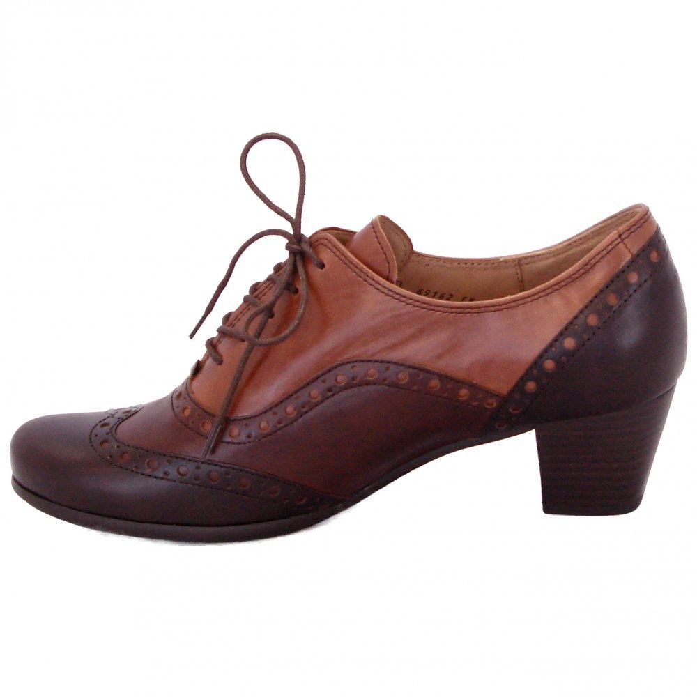 Gabor Shoe Denver Ladies Lace Up High Top Brogues In