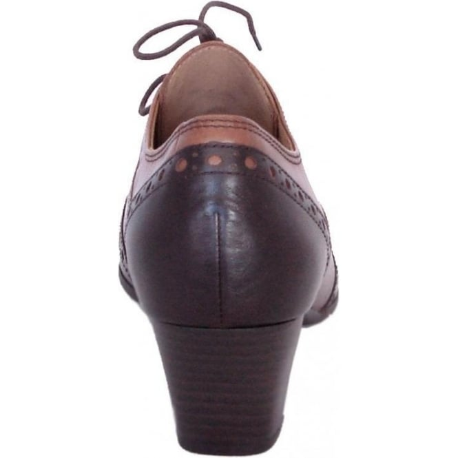 09c4d765e2 Gabor Shoe | Denver Ladies Lace Up High Top Brogues in Brown | Mozimo