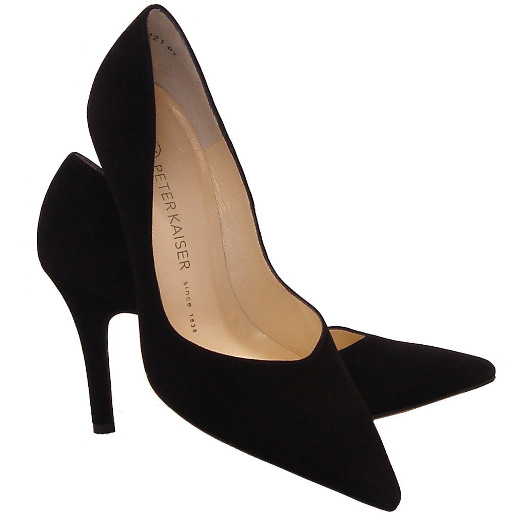 Suede Black Heels - Is Heel