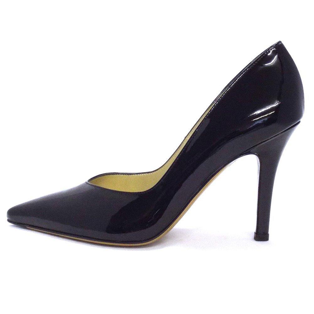image Black patent stiletto shoe job 01