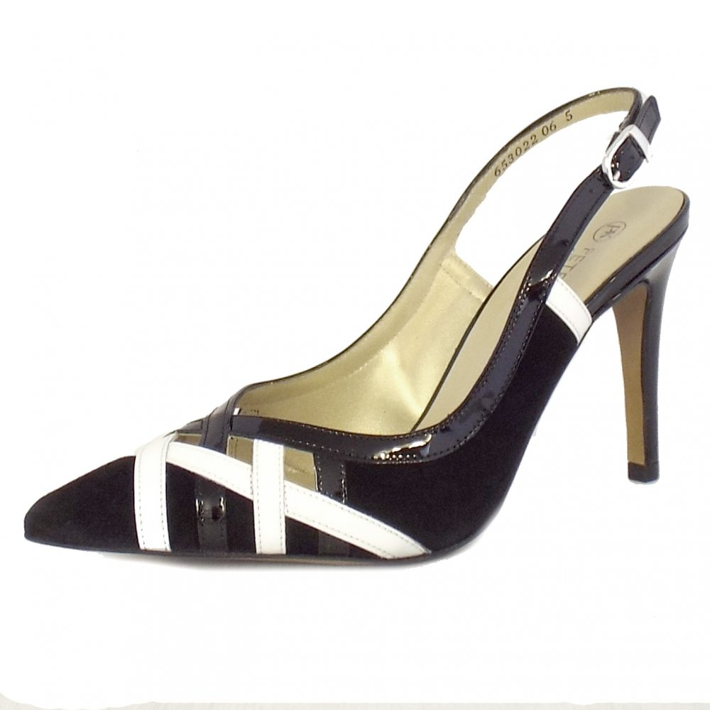 kaiser dixi black and white leather