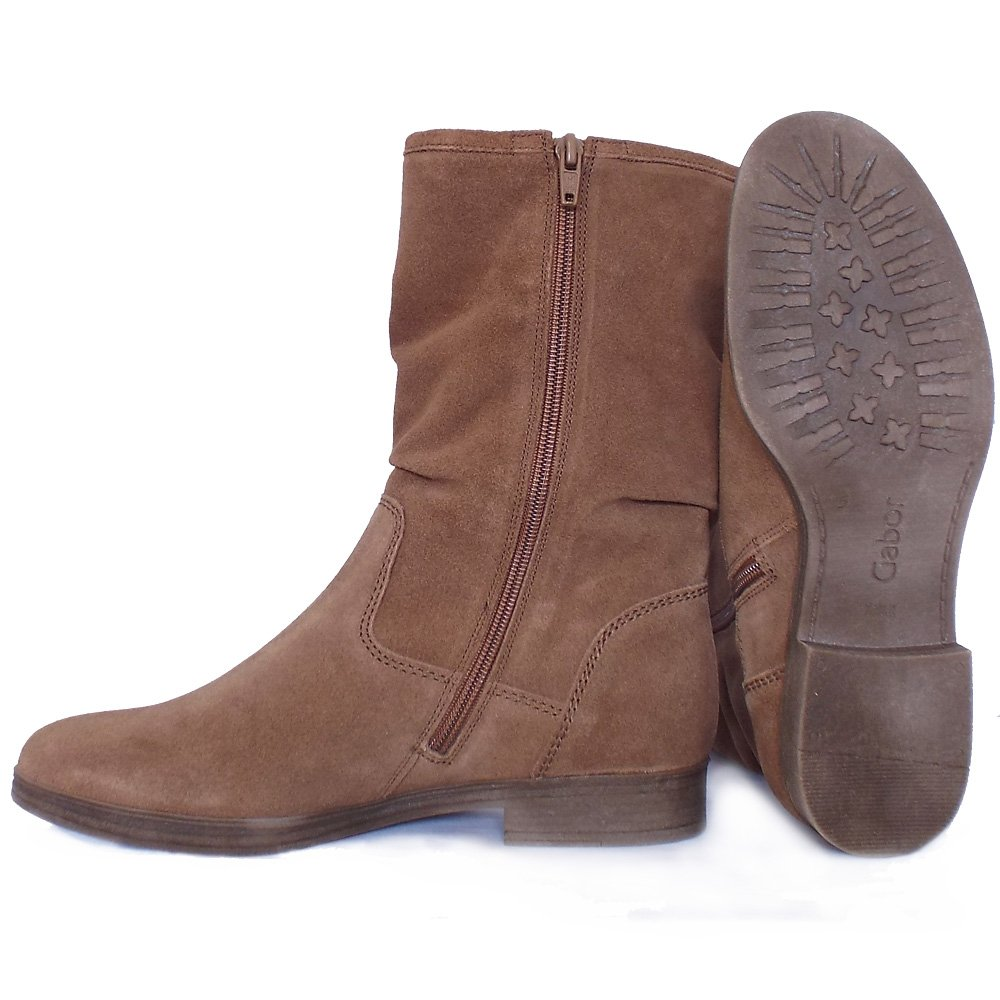 gabor dolce mid calf slouchy boots in brown mozimo