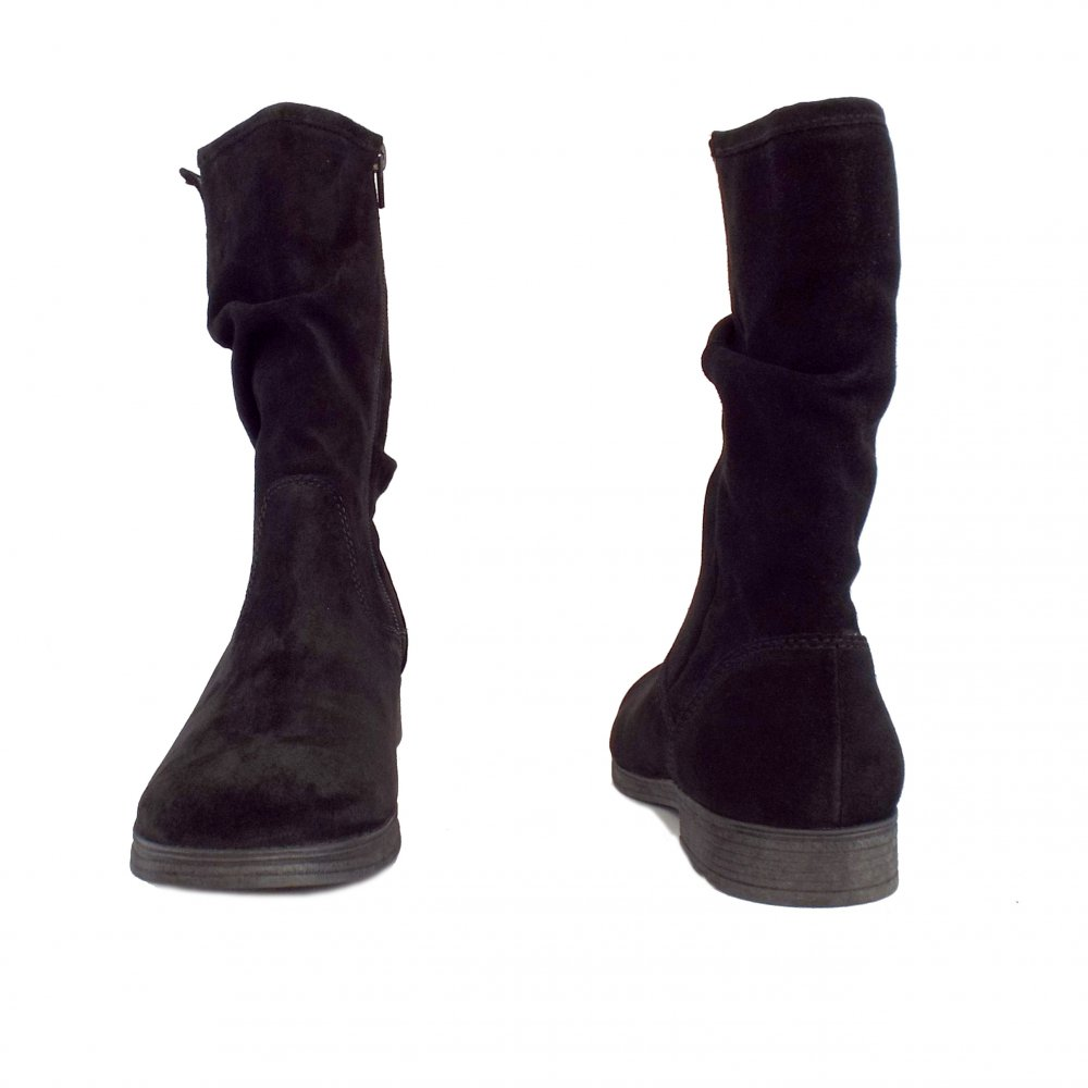 Gabor Dolce Women S Mid Calf Boots Black Suede